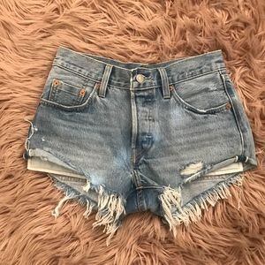 Levis Premium 501 Selvage Cut Off Shorts Size 24